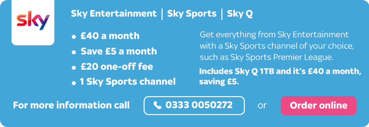 Sky Entertainment, Sky Sports & Sky Q offer