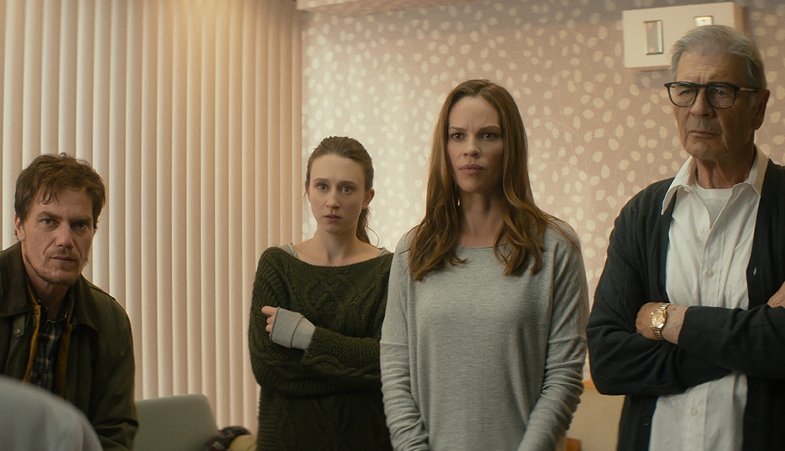 Hilary Swank, Michael Shannon, Robert Forster and Taissa Farmiga in What They Had
